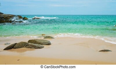 Panorama with deserted sea coast Phuket Island, Thailand
