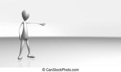 (1085) CG Animated Business Character Doing Presentation (blank set)
