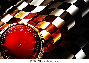 10eps, het snelen, achtergrond, horizontaal