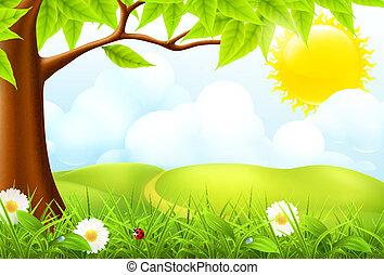 10eps, landscape, groene