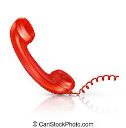 10eps, microteléfono, rojo