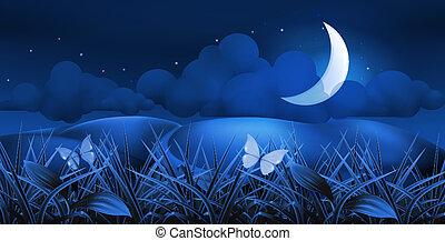 10eps, paysage, nuit