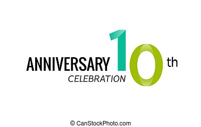 10th anniversary celebration logo icon. 10 anniversary badge design sign birthday