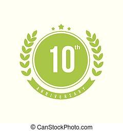 10th Anniversary Vector Template Design Illustration