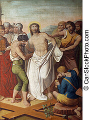 10th Stations of the Cross, Jesus is stripped of His ...