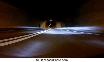 10x, -, accelerated, conduite, nuit