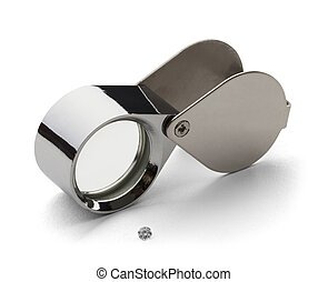 10X Loupe - Chrome Jewelers loupe for Diamond Grading with...