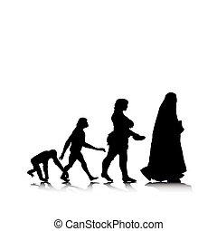 11, évolution, humain