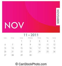 11 月, カレンダー