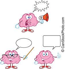 11, 脳, 漫画, コレクション, マスコット