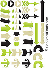 11, differente, set, freccia, vectors