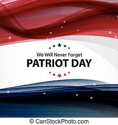 11, forget., patriote, poster., septembre, jamais, nous, volonté, arrière-plan., jour