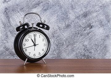 11 heures, mur, vendange, horloge, bois, fond, table