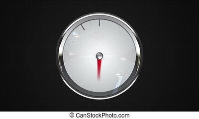 11, miara, wskazany, point., o'clock