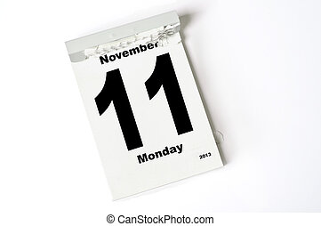 11. November 2013 - calendar sheet