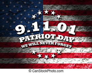 11, patrióta, szeptember, -, amerika, nap
