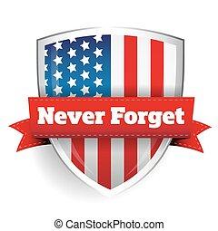 11, settembre, mai, -, dimenticare
