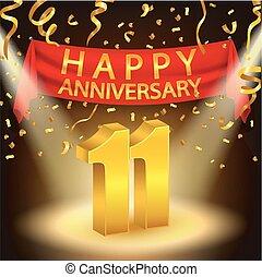 11, szczęśliwa rocznica, celebrowanie