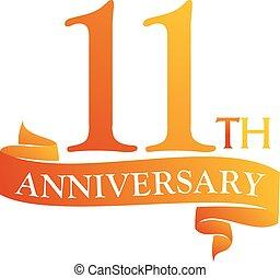 11 Year Ribbon Anniversary