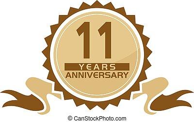 11 Years Ribbon Anniversary