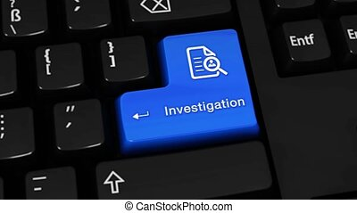 110. Investigation Rotation Motion On Computer Keyboard Button.
