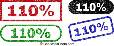 110% Rectangle Stamps with Rubber Surface
