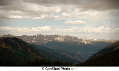 (1106) Wilderness Summer Mountain Storm Time Lapse PAN