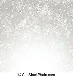 1111, natale, fiocco di neve, fondo, argento