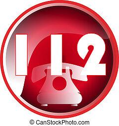 112, botão emergência