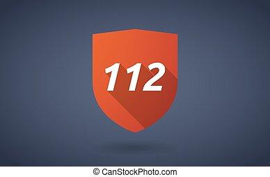 112, bouclier, ombre, long, texte