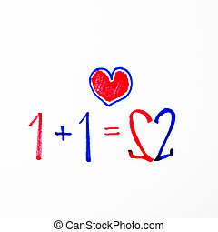 1+1=2 it mean love