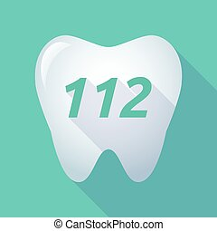 112, ombre, long, texte, dent
