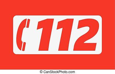 112, zahl, notfall, europäische