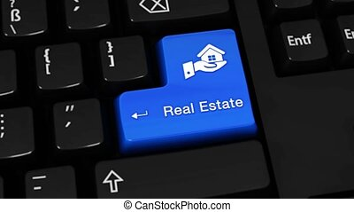 113. Real Estate Rotation Motion On Computer Keyboard Button.
