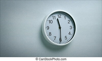 11.30 Clock On Wall - Generic clock on wall showing 11.30...