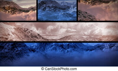 (1130) Snowy Mountains Sunset Composition Loop