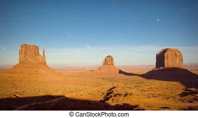 (1134) Monument Valley Utah Sunset Moonrise Timelapse