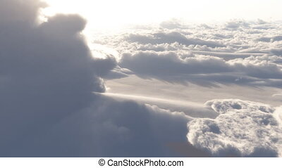 (1153) Dramatic High Altitude Clouds Aerial Heaven Flight ...