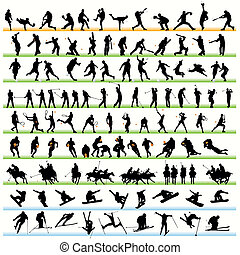 116 Sport Silhouettes Set