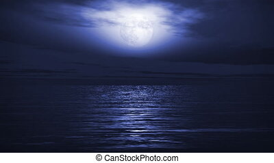 1167 Blue Full Moon Tropical Ocean - Great for themes of...