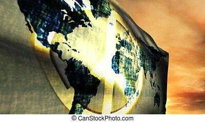 (1180) One World Global Peace Flag