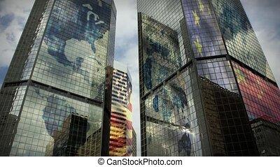 (1186), глобальный, skyscrapers, бизнес