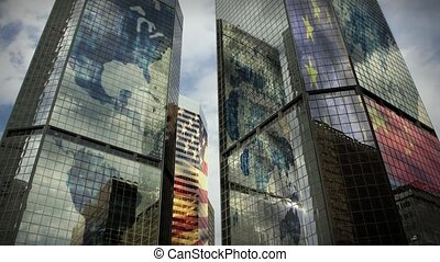 Themes of global business, international commerce, tourism, future, urban and modern city lifestyles, architecture, business and industry concepts