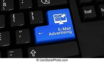 119. E-Mail Marketing Rotation Motion On Computer Keyboard Button.