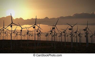(1194), wiatr turbiny, energia, moc