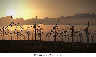 (1194) Wind Turbines Energy Power - Themes: Wind, Solar, ...