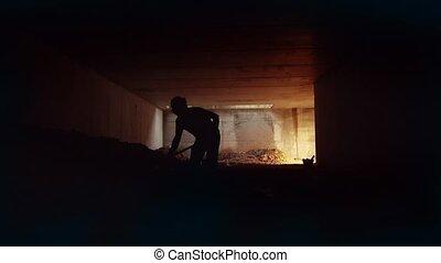 11of11 Men work, construction site