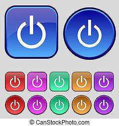 12, セット, 力, 型, 印, ボタン, アイコン, あなたの, デザイン