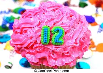 12, -, 数, 祝福, cupcake