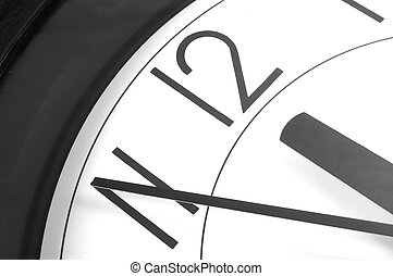 12 clock - wall clock at 12. time is running out